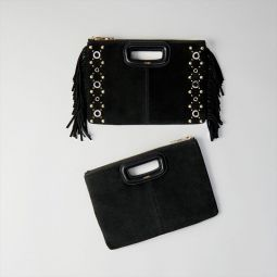 Suede M Duo Purse With Eyelets