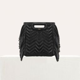 Quilted Mini M Bag With Leather Fringe