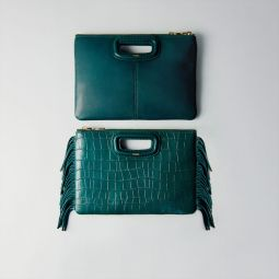 Crocodile Embossed-Leather M Duo Clutch