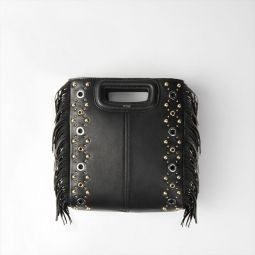 Leather M Bag With Eyelets