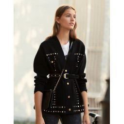 Cardi-Coat Trimmed With Studs