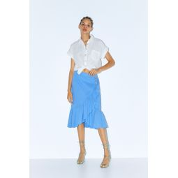 RUFFLED SKIRT WITH BUTTONS