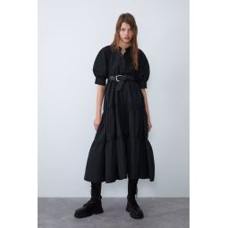 DRESS WITH VOLUMINOUS SLEEVES
