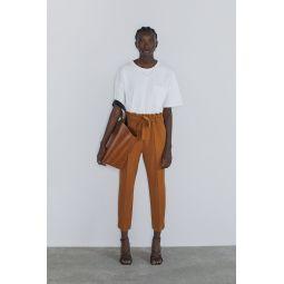 BELTED PAPER BAG PANTS