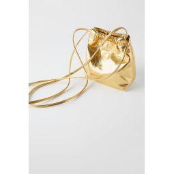 GOLD MINI BUCKET BAG