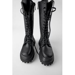 LUG SOLE LEATHER BOOTS