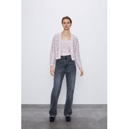 KNITWEAR TOP WITH FAUX PEARLS