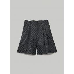 Comme des Garcons Jacquard Pattern Checkered Short | Totokaelo