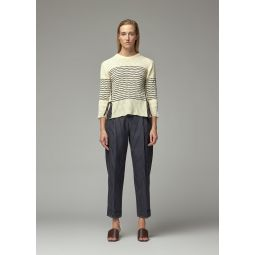 Chloe Striped Lace Up Side Cotton Knit | Totokaelo