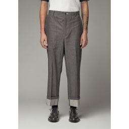 Thom Browne Fold Up Straight Leg Denim Trouser | Totokaelo