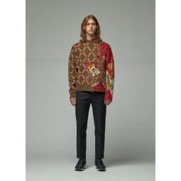 Intarsia Layered Sweater
