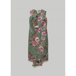 Comme des Garcons Jacquard Flower Print Sleeveless Dress | Totokaelo
