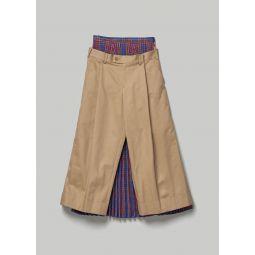 Junya Watanabe Pant With Tartan Check Skirt Back | Totokaelo