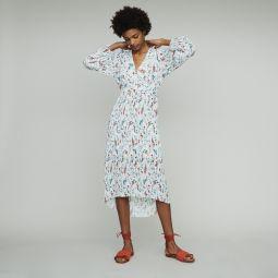 RASIONA Long printed dress