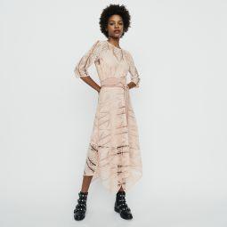 RIPAZ Long dress in guipure