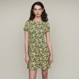 ROCKINIE Pleated dress in floral print