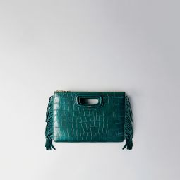 119 MDUOCROCO Crocodile embossed-leather M Duo clutch
