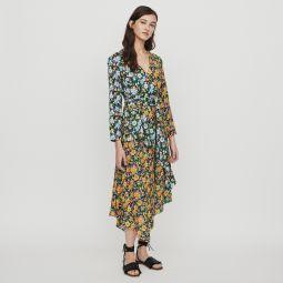 ROEN Long dress in floral print