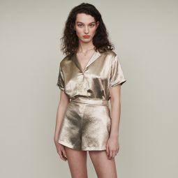 ILUR Shorts in silk blend