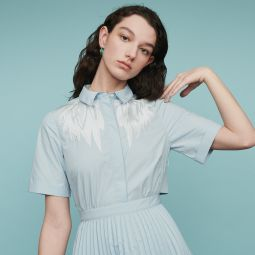 RIVERS Pleated shirt dress with back opening