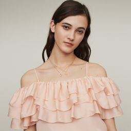 LOVANT Strappy top with ruffles