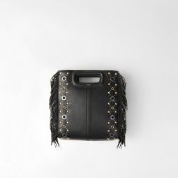 119MSACHA Leather M bag with eyelets