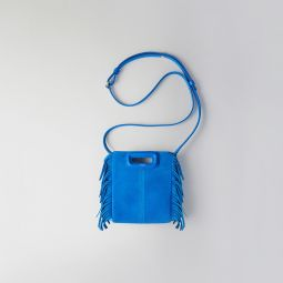 119 MMINI CHAIN MIX Mini two-toned suede M bag with chain