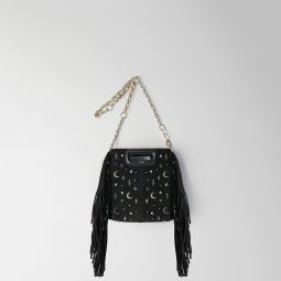 119MMINISTELLAR Mini studded suede M bag with chain