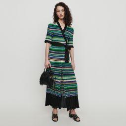RAMACCA Long dress in striped knit