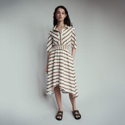 ROMALA Long striped shirt dress