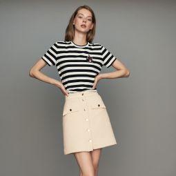 JIBA Tweed trapeze skirt