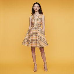 REINETTA Striped knit skater dress