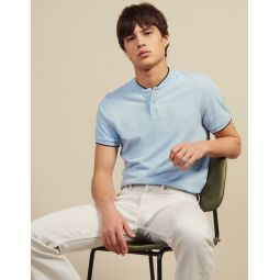 Polo Shirt With Collar Detail