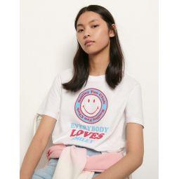 Organic cotton T-shirt with motifs