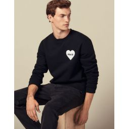 Cotton sweater with PEACE patch