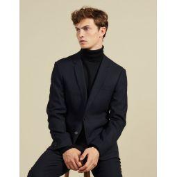 Slim-fit wool suit jacket