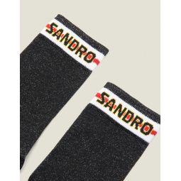 Lurex Socks With Sandro Logo