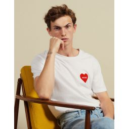 Cotton T-Shirt With Flocked Heart