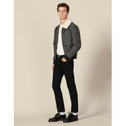 Wool aviator jacket