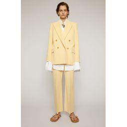 Corduroy suit jacket vanilla yellow