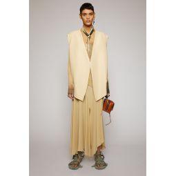Oversized waist coat cream beige