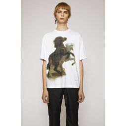 Horse-print t-shirt optic white