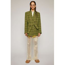 Checked suit jacket green/grey