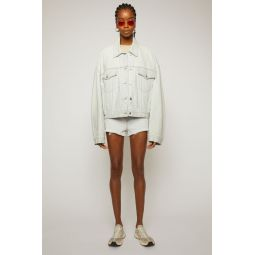 Boxy-fit denim jacket pale blue