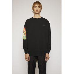 Monster-print sweatshirt black