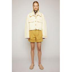 Painted-twill jacket almond beige
