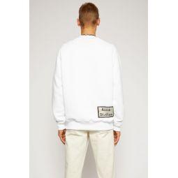Reverse-label sweatshirt optic white