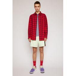 Vichy-check shirt poppy red
