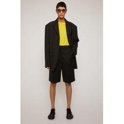 Wool-blend shorts black