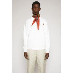 Peach-patch sweatshirt optic white